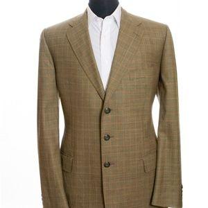 Sam Abouhassan Green Check Wool Blazer 46L
